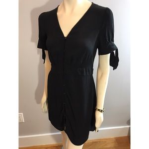 Express Button Down Little Black Dress Size Small